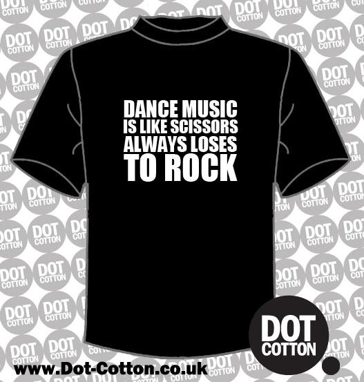 Dance Music Rock T-Shirt