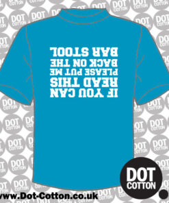 If you Can Read Put Me Back on Bar Stool T-Shirt