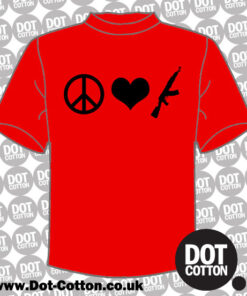Peace Love AK47 T-Shirt