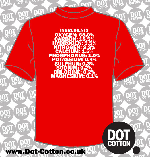 Human Body Ingredients T-Shirt
