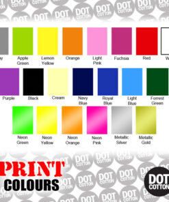 Dot Cotton Print Colours