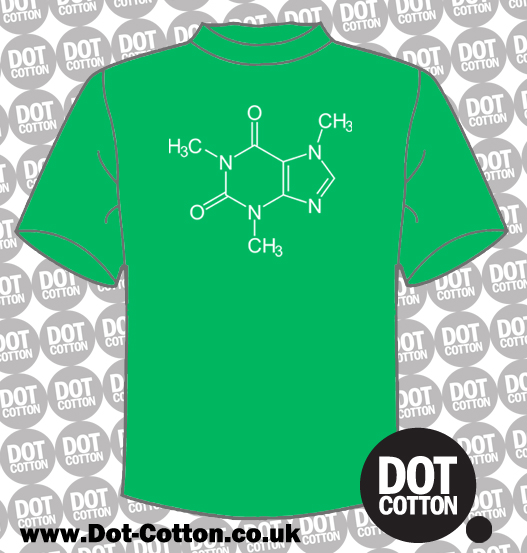 Caffeine Chemical Structure T-Shirt
