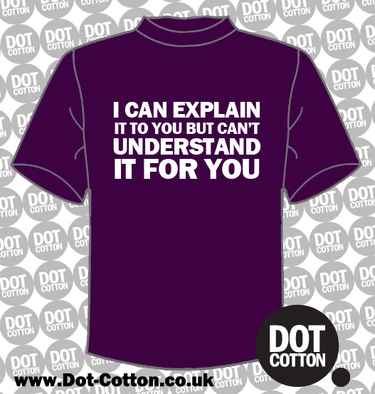 I can Explain It but not Understand It T-Shirt