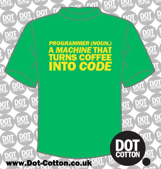 Programmer Turns Coffee Code T-Shirt