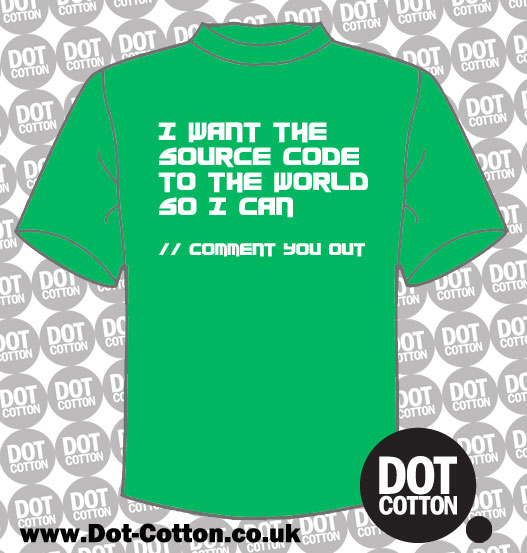 Source Code to the World Comment You Out T-Shirt
