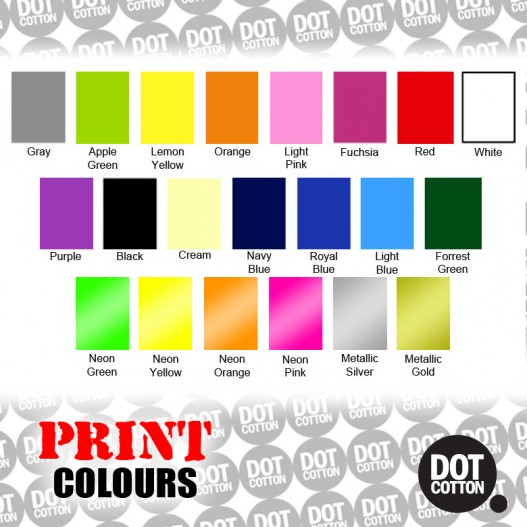 Dot Cotton Print Colours
