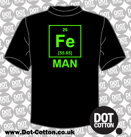 Fe Iron Element Man T-Shirt
