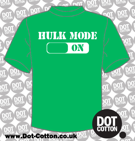 Hulk mode on T-shirt