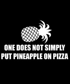 One does not Simply put Pineapple on Pizza T-Shirt